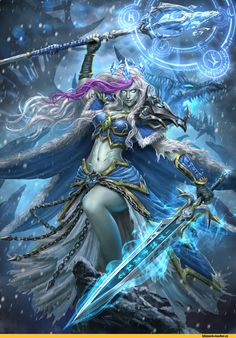 Jaina Litch Queen Daily World of Warcraft Art Board ^^ // Blizzard // wow // Hearthstone // Geek Fantasy Girl, Dark Fantasy, Fantasy Women, Digimon, World Of Warcraft Wallpaper, Blizzard Wow, Jaina Proudmoore, Character Art, Character Design
