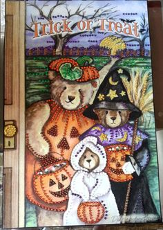 Completed Mary Maxim Trick or Treat Banner by susanmarieuponastar, $35.00