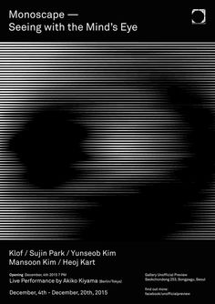 Monoscape – Seeing with the Mind's Eye Type Posters, Graphic Design Posters, Graphic Design Inspiration, Gfx Design, Print Design, Book Design, Cover Design, Glitch, Geometric Type