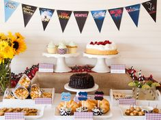 Banners,, cupcake toppers,labels Printable Broadway Party!