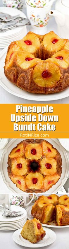This beautiful Pineapple Upside Down Bundt Cake is a feast for the eyes and the palate. It is fragrant, moist, and perfect for any occasion. | RotiNRice.com