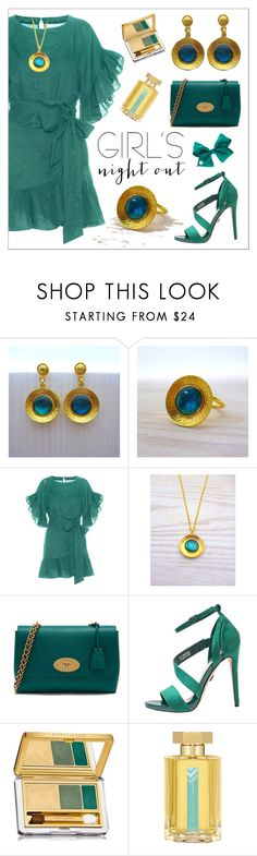 """""""Green Dress - Summer Outfit - Evangelos Jewellery"""" by evanangel ❤ liked on Polyvore featuring Étoile Isabel Marant, Mulberry, Estée Lauder, L'Artisan Parfumeur and modern"""