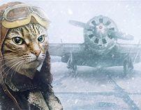 Ознакомьтесь с этим проектом @Behance: «Cat-Pilot» https://www.behance.net/gallery/2976953/Cat-Pilot