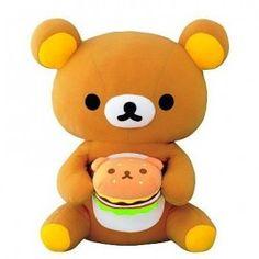 Rilakkuma teddy bear with Rilakkuma burger