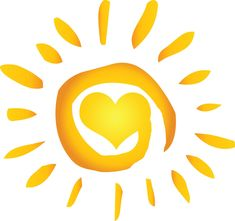 A yellow heart in a spiral of the sun. It keeps me searchin' for a heart of gold.