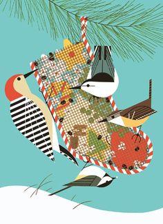 Charley Harper Birds | Charley Harper-backyard-birds | The Art of Charley Harper
