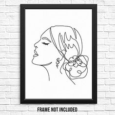 Artwork For Living Room, Bedroom Artwork, Poster Wall, Poster Prints, Art Prints, Abstract Lines, Abstract Wall Art, Face Line Drawing, Fashion Artwork