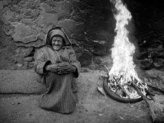 Marrakech, Street man and fire