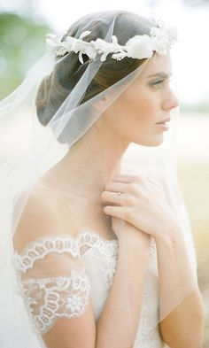 PRIMROSE silk flower bridal crown
