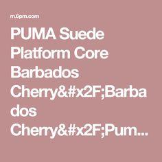 PUMA Suede Platform Core Barbados Cherry/Barbados Cherry/Puma White - 6pm.com