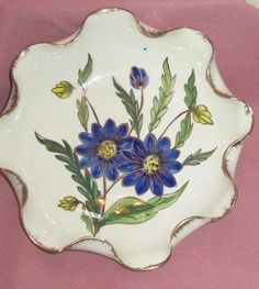 Vintage Hand Painted Dish From Italy by myabbiesattic on Etsy, $16.99
