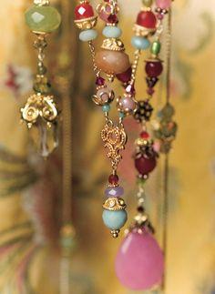 Bohemian jewelery, multi color, Jane Burchard signage