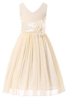 Bow Dream Flower Girl Dress bridesmaid V-Neckline Chiffon... https://www.amazon.com/dp/B01BSCQNOU/ref=cm_sw_r_pi_dp_.4aAxbBCJ3Y7K