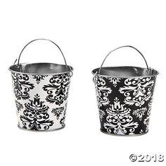 Black & White Favor Pails