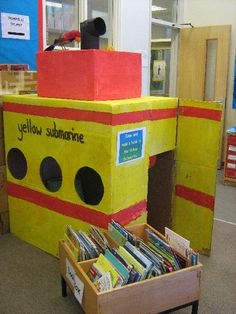 The Yellow Reading Submarine classroom display photo - Photo gallery - SparkleBox We all read in the yellow submarine! Under The Sea Theme, Under The Sea Party, Classroom Displays, Classroom Themes, Submerged Vbs, Role Play Areas, Underwater Theme, Ocean Unit, Sea Crafts