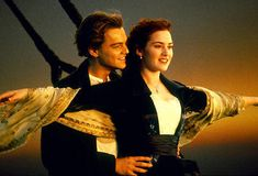 The Greatest Movie Couples Ever: Leonardo DiCaprio and Kate Winslet; As Rose Bukater and Jack Dawson in Titanic Kate Winslet, Iconic Movies, Popular Movies, Great Movies, 90s Movies, Titanic Leonardo Dicaprio, Jack Dawson, James Cameron, Movie List