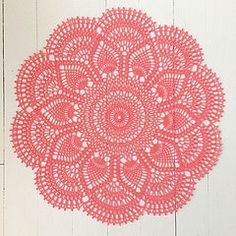 Pineapple Doily. Free pattern by American Thread Company.  (split and make tree skirt)