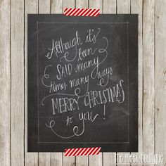 INSTANT DOWNLOAD Christmas Song Lyrics by TheMeekBoutique on Etsy, $5.00