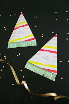 DIY Birthday Hat Greeting Card | like-the-cheese.com with Printable