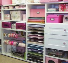 Classic Chic Home: Home Organization: Creative Craft Room Storage