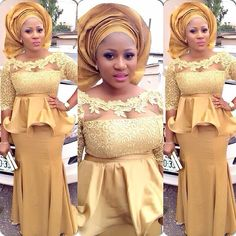 Robes de soirée taille plus style eo Sheat / African Dresses For Women, African Wear, African Attire, African Women, African Fashion, Ghanaian Fashion, Nigerian Fashion, African Style, Nigerian Lace Dress