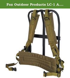 "Fox Outdoor Products LC-1 A.L.I.C.E. Field Pack Frame, Black Frame/Olive Drab Pad, 20"" x 19"" x 11"". The Fox LC-1 A.L.I.C.E. Field Pack Frame comes complete with LC-2 shoulder straps and belly strap. Sturdy black frame with matching colored kidney pad. Fits medium to large A.L.I.C.E. field packs."