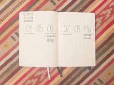 Bullet journal weekly layout, minimalist weekly layout, minimalist date headers, monochromatic layouts. @rawrrbecca