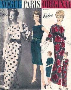 1960s Jean PATOU Vogue 1092 Paris Original by DesignRewindFashions, $75.00