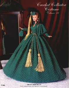 Barbie, Crochet Collector Costume Vol. 33 pattern http://knits4kids.com/collection-en/library/album-view?aid=2174