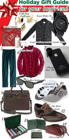 Holiday Gift Guide for your boyfriend/husband! #holiday #giftguide #gift Repin if you like this post : )