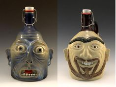 Beer Growlers by Carlburg Pottery