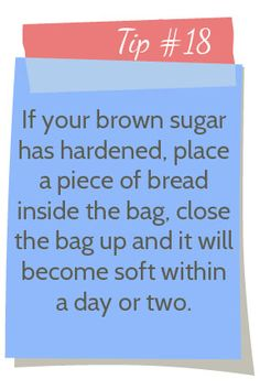 A Real-Life Housewife: Tip #18: How to Soften Brown Sugar