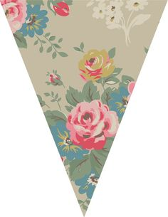 Just Peachy Designs: Free Floral Bunting Printable