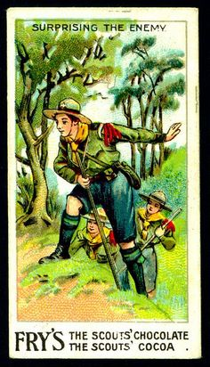 Trade Card - Boy Scout - Surprising the Enemy by cigcardpix, via Flickr