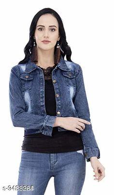 Jackets Stylish Denim Women's Jacket Fabric: Denim Sizes:  S (Bust Size: 34 in Length Size: 27 in)  XL (Bust Size: 40 in Length Size: 31 in)  L (Bust Size: 38 in Length Size: 29 in)  M (Bust Size: 36 in Length Size: 25 in) Country of Origin: India Sizes Available: S, M, L, XL   Catalog Rating: ★3.9 (447)  Catalog Name: Free Mask Urbane Fashionista Women Jackets & Waistcoat CatalogID_1668717 C79-SC1023 Code: 113-9483264-027