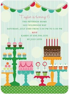 "A ""Sweet Spread"" party invitation from Tiny Prints!"