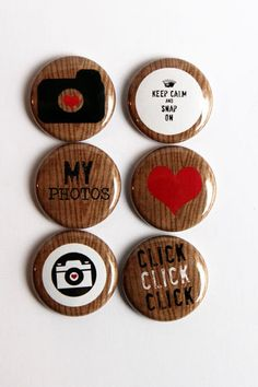 Wooden Camera Flair by kidsmom1999 on Etsy, $6.00