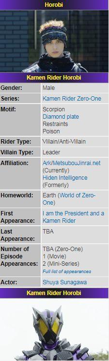 Zero One, Kamen Rider