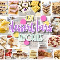 The Best Easy Dessert Bars Recipes - Favorite New Plus Classic Bar Cookies and Big Batch Party Treats Bars for Crowds - Dreaming in DIY