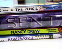 The pencil sent Nancy Drew homework!