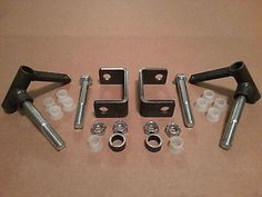 "Complete 5/8"" axle Steering Spindle Bracket set w/ nylon inserts Dolly, Go Kart"