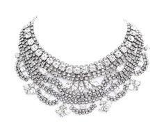 Tom Binns sparkly white crystal short bib necklace (goes with everything). Wedding Jewelry, Jewelry Box, Jewelry Accessories, Jewellery, Tom Binns, Statement Jewelry, Costume Jewelry, Jewels, Crystals