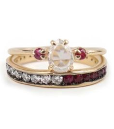Catbird::shop by category::JEWELRY::Rings:: Leda the Swan, Rubies