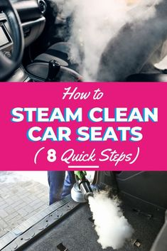 Steam cleaning car seats is important for maintaining an acceptable level of car cleanliness. Learn how to steam clean your car seats by reading the tips in this article. #steamcleaning #steamcleaningtips #steamcleaningcarpets #howtosteamclean #steamclean #carpet #cleaningcarpet