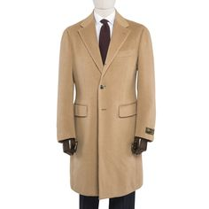 Ring Jacket Baby Camelhair Single Breasted Overcoat