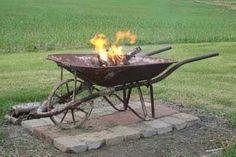 Wheelbarrow fire pit!