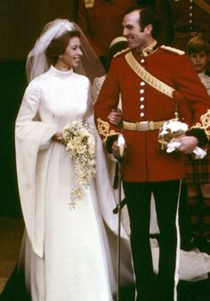 Princess Anne weds Lieutenant Mark Phillips;  1973.