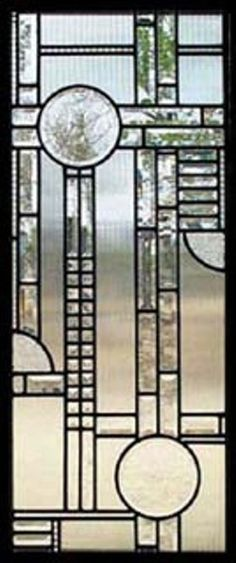 leaded glass art deco wall hanging