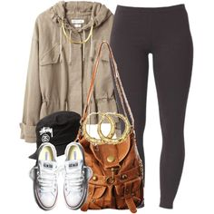 A fashion look from April 2014 featuring Étoile Isabel Marant jackets, Joe Browns leggings and Forever 21 bags. Browse and shop related looks.