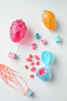easter egg hot air balloons {snowdrop and company}
